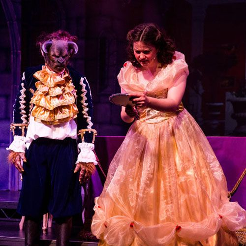 Beauty and the Beast production at Christleton High School