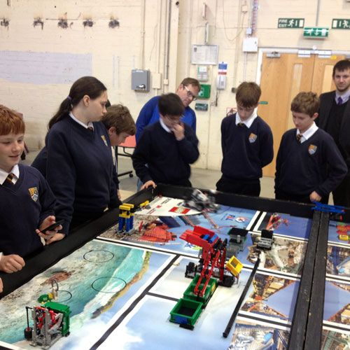 Christleton High School students making models