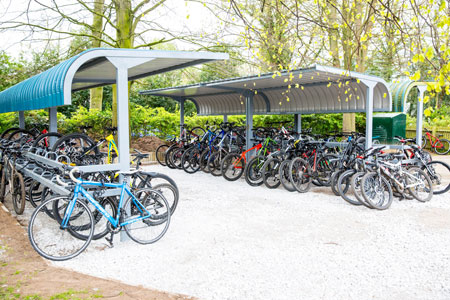 New bike shed at Christleton High School